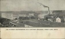 Three Oaks MI Warren Featherbone Factory Bldgs c1910 Postcard