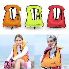 Mens Snorkeling Gear Swimwear Inflatable Adult Life Jackets Vest Swimwear Hot FE