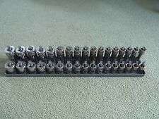 """1/2"""" drive mostly snap on metric socket set 34pc 10-27mm 6 point shallow & deep"""