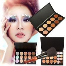 15/20/10 Colors Makeup Concealer Camouflage Cream Cosmetic Palette +Blush Brush