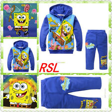 Cartoon color blue sponge baby printing cashmere with two sets of cashmere sweat