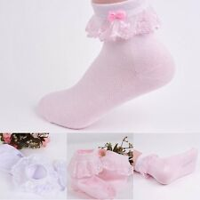 Kids Baby Girls Lace Princess Socks Children Breathable Soft Cotton Hosiery New!