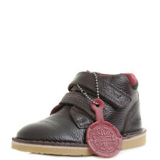 Kids Boys Kickers Adlar Twin Leather Dark Brown  Ankle Boots Size