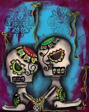 Free Yourself by Abril Andrade Griffith Sugar Skulls Tattoo Canvas Art Print