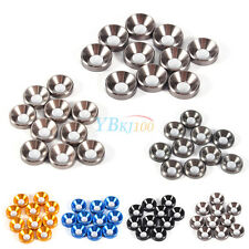 10Pcs M3 M4 M5 Anodized Countersunk Head Washers Gasket Aluminum Alloy Colorful