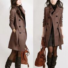 Women Trench Parka Coat Jacket Lady Overcoat  Fashion Winter Long Slim Outwear