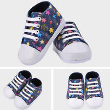 Soft Girls Boys Baby Shoes Rainbow High Quality  Walkers Canvas Shoes
