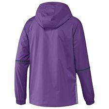 adidas Mens Gents Football Real Madrid Training All Weather Jacket - Purple