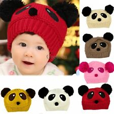 Cute Unisex Panda Hat Baby Toddler Winter Beanie Warm Hat Knitted Cap Girls Boys
