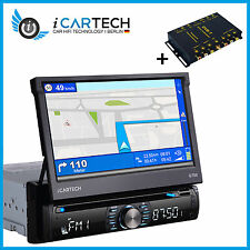 1Din Autoradio Bluetooth mit 7 HD Touchscreen Navigation GPS NAVI DVD CD HD DVBT