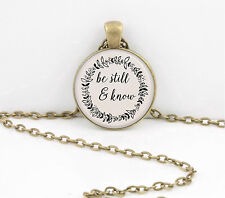 Be Still and Know Bible Fellowship Gift Pendant Necklace Key Ring