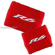YAMAHA R6 BRAKE RESERVOIR COVER SET OIL CUP COVER GP SOCK YZF 600 S RED/WHITE