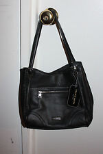 Brand New -- Franco Sarto Black Leather Tote Purse Handbag