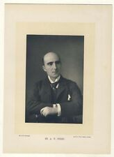 Arthur Pinero, Theatre actor & dramatist, portrait by Downey - Old Photo