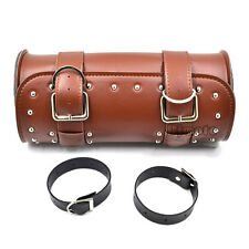 Universal Motorcycle Saddle Bags Side Front Rear PU Leather Storage For Harley