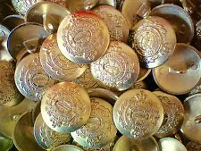 20mm 32L Gold Metal Military Coat of Arms Regiment Shank Blazer Buttons (M11) X
