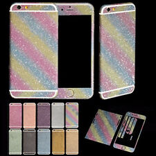 Bling Diamond Full Body Front & Back Matte Decal Glitter Film Sticker Case Cover