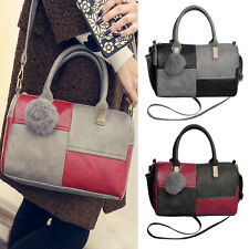 Womens Leather Handbag Shoulder Lady Crossbody Bag Tote Messenger Satchel Purse