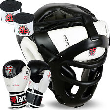 Flaresport Head Guard Face Protection helmet Kick Boxing Gloves Gear Hand Wraps