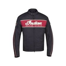INDIAN MOTORCYCLE MENS 1901 MOTORCYCLE JACKET BLACK RED SIZE SM-5XL