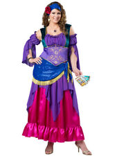 Elite Gypsy Treasure Fortune Teller Adult Womens Dress Costume NEW PLUS SIZE