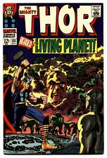 Thor Comics #133 comic book vf- 1966-Marvel Silver Age- EGO Living Planet