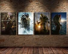 4pcs Modern Home Decor Wall Art Painting TMNT Poster Print on Canvas