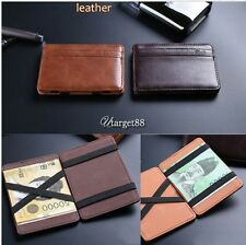 Chic Leather Magic Money Clip Slim Men Wallet ID Credit Card Holder Case UTAR