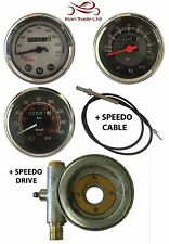 UNIVERSAL / ROYAL ENFIELD SPEEDO METER 0-160KM/H +  SPEEDO CABLE + SPEEDO DRIVE