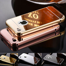 New Luxury Ultra-Thin TPU Mirror Metal Case Cover For iPhone Models