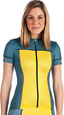 HINCAPIE CHROMATIC SHORT SLEEVE WOMENS BIKE JERSEY BLUE/YELLOW