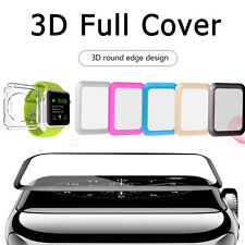 Apple Watch SERIES 2 38mm 42mmFull Edge Tempered Glass Screen Protector+TPU Case