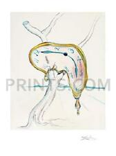 Salvador Dali Tearful Soft Watch Giclee on Paper Limited Edition of 175