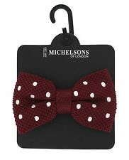 Michelsons of London Spot Knitted Bow Tie