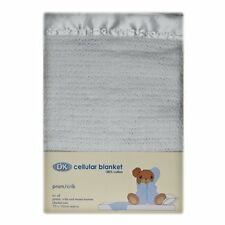 DK Glovesheets 100% Cotton Cellular Pram Blanket (White)