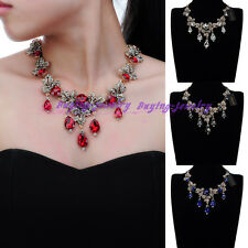 Fashion Jewelry Charm Crystal Choker Cluster Statement Pendant Bib Necklace New