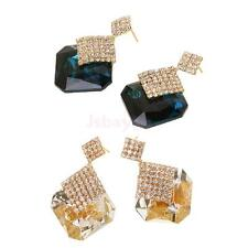 Classic Shiny Crystal Rhinestone Ear Stud Drop Earrings for Woman Party Gifts
