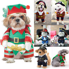 Xmas Elf Pirate Cop Cowboy Cosplay Costume Puppy Dog Cat Kiity Clothes Apparel