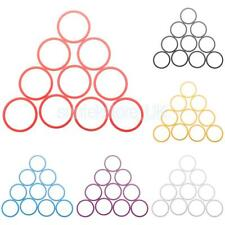 """Aluminum Alloy Bike Bicycle Cycling Headset Stem Spacer 1-1/8"""" 10mm Pack of 10"""
