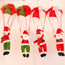 Festive Christmas Tree Hanging Decor Parachute Xmas Cute Snowman Santa Ornaments