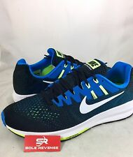 New MENS 2E WIDE Nike Air Zoom Structure 20 Blue Green Running Shoes 849574-004
