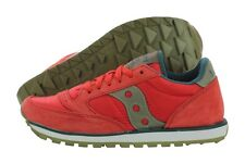 Saucony Jazz Low Pro S1866-188 Red Suede Nylon Casual Shoes Medium (B, M) Womens
