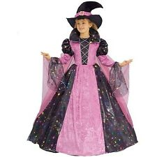Girls Halloween Costume Child Toddler Kids Witch Hat Outfit Fancy Dress Up New