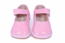 "KIDS TODDLER PINK GLITTER SPARKLE ""PRINCESS"" SQUEAKY SHOES"
