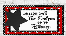 Personalised Disney Countdown Plaque Disneyland Chalk Christmas Gift Present