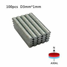 200pcs 3mm x 1mm N50 Strong Disc Round Rare-Earth Neodymium Magnets Hot Sale