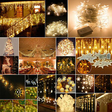 Warm White Christmas Wedding Xmas Party Decor Curtain Fairy String Lights Lamps