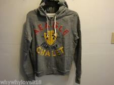 NWT Women American Eagle AE Signature Graphic Hoodie GRAY S,M