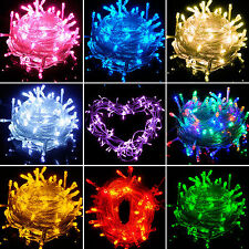 10M/20M 100/200 LED Bulbs Xmas Fairy Party Strings Decor Lights Lamps Waterproof