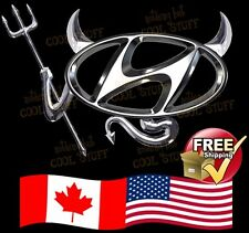HYUNDAI ~ New 3D Gold , Red  or Chrome Devil Decal Sticker For Car Emblem Logo